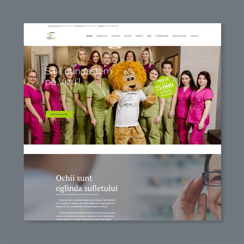 optometry website design company web development