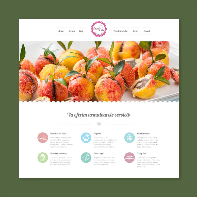 sweet bakery pancake cake website design company web development