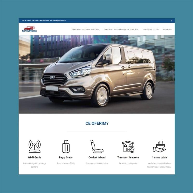 Website portofolio rdtourtrans transport logo